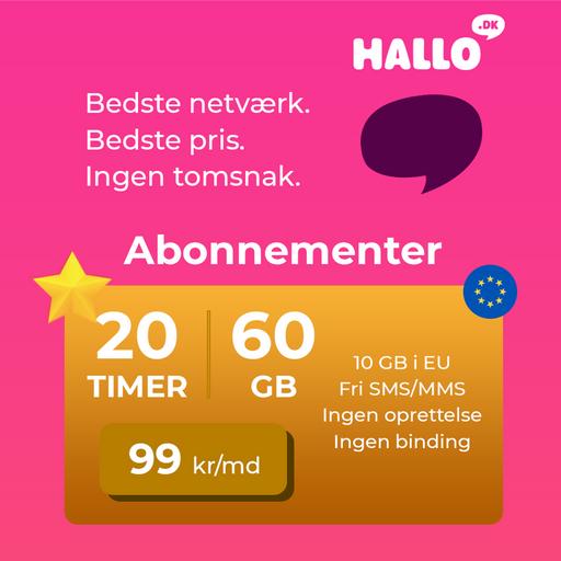 Vind 6 måneders gratis abonnement på DK's bedste netværk!